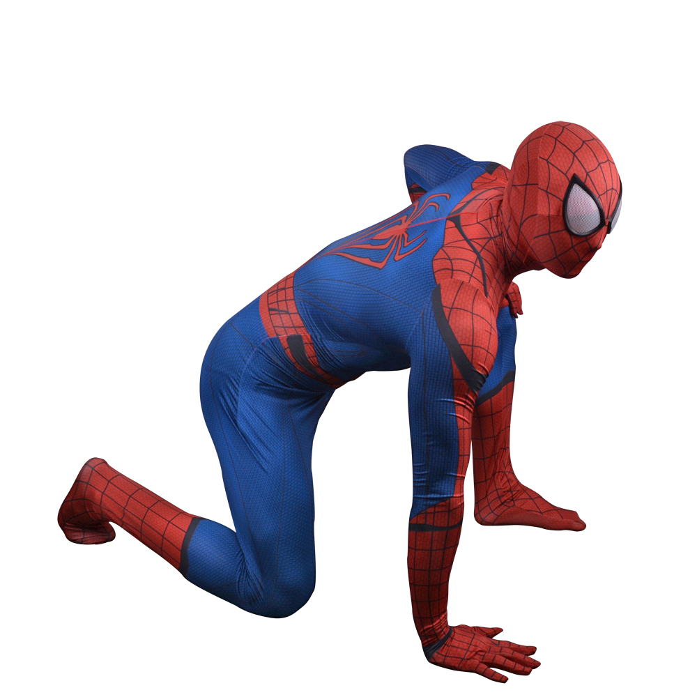 New Spiderman Costume Adult The Amazing Spider Man Cosplay Spandex Full Body Skin Suit Spider Man Homecoming Superhero Costume-in Movie u0026 TV costumes from ...  sc 1 st  AliExpress.com & New Spiderman Costume Adult The Amazing Spider Man Cosplay Spandex ...