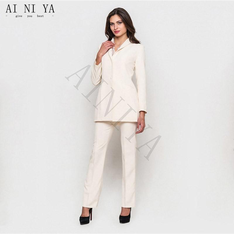 Intelligent Rosa Frauen Anzügen Formale Weibliche Büroarbeitskleidung 2 Stück Sets Zweireiher Schlank Uniform Designs Blazer Custom Gemacht Home