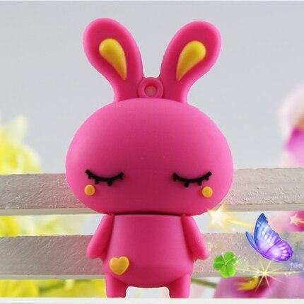 Creative Memoria Usb Flash Drive 128GB Key Pen Drive 512GB Rabbit Memory Stick Rabbit 32GB 64GB Pendrive 256GB 16GB Cartoon Gift