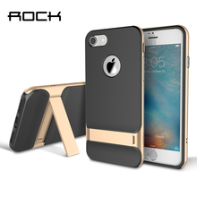 For Apple iPhone 6 6s 4.7'' TPU+PC Case Original Rock Royce Holder Series Luxury Kickstand Case For iPhone6s Phone Back Covers rock royce tpu back cover holder case for iphone 7 plus gray