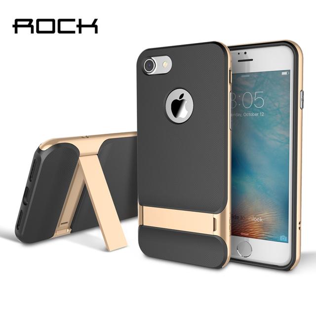 Tpu + pc para o iphone 6 6 s 7 plus case original rock royce titular série luxo kickstand case para iphone 6 7 plus telefone back covers
