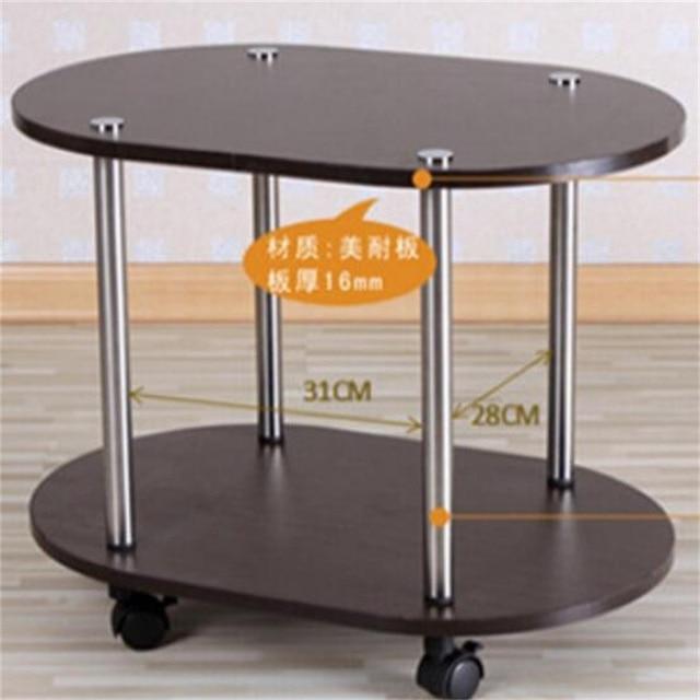 60 40 47cm Modern Wood Bedside Table Sofa Side Coffee Table Mobile
