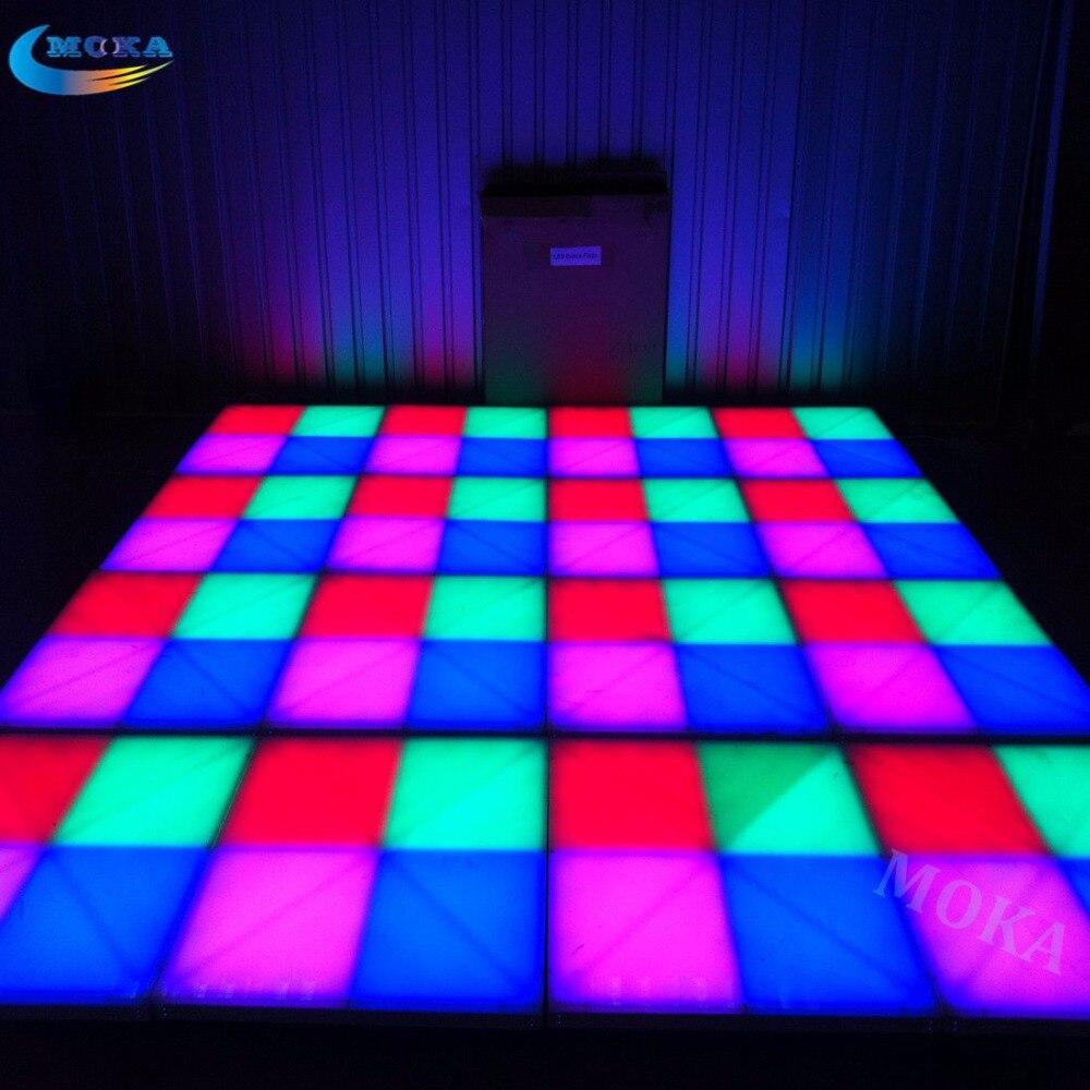 32 кв 1 м * 1 м rgb led танцпол Цвет акрил Панель Алюминий Рамки DMX Управление 31 каналы нагрузка 800 кг