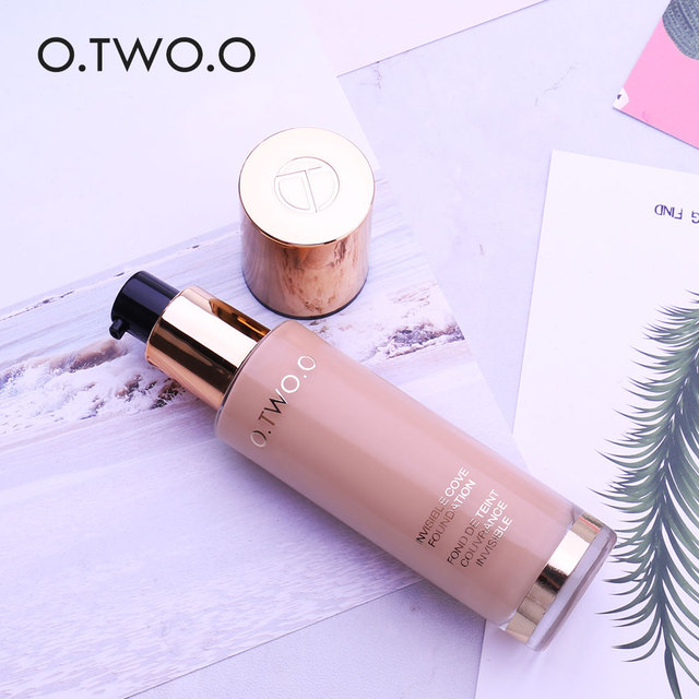 O.TWO.O Liquid Foundation Invisible Full Coverage Make Up Concealer Whitening Moisturizer Waterproof Makeup Foundation 30ml 6