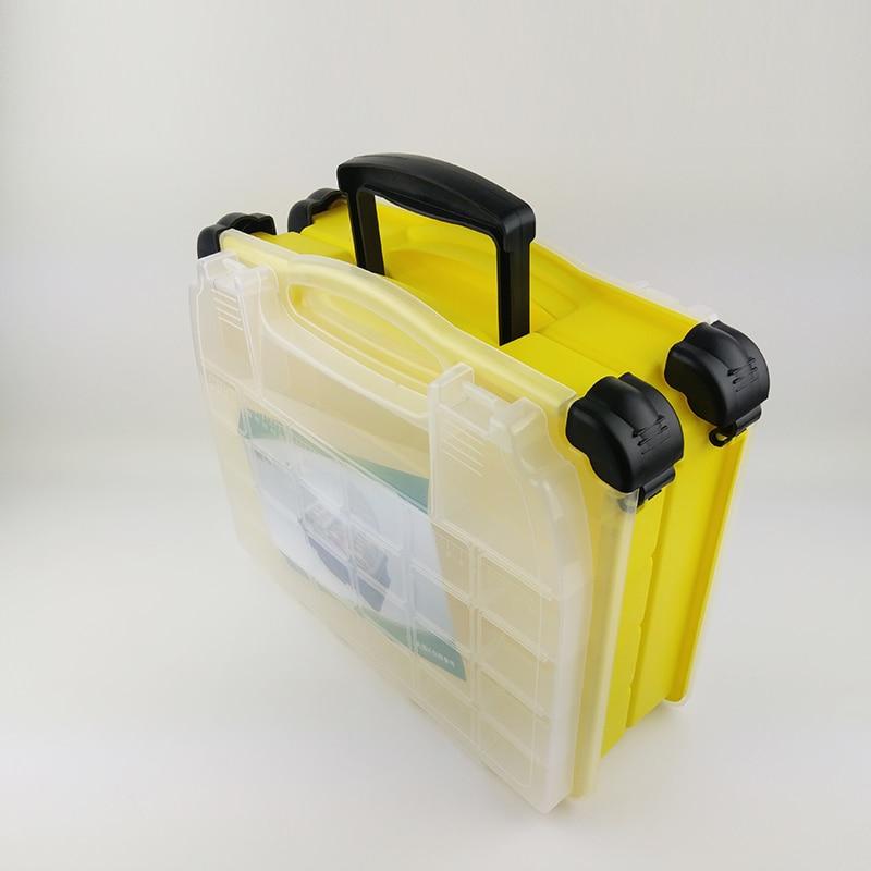 Multifonctionnel haute résistance 38*17*32 cm Transparent Visible en plastique boîte de leurre de pêche boîte de matériel de pêche boîtes 3 couleurs - 4