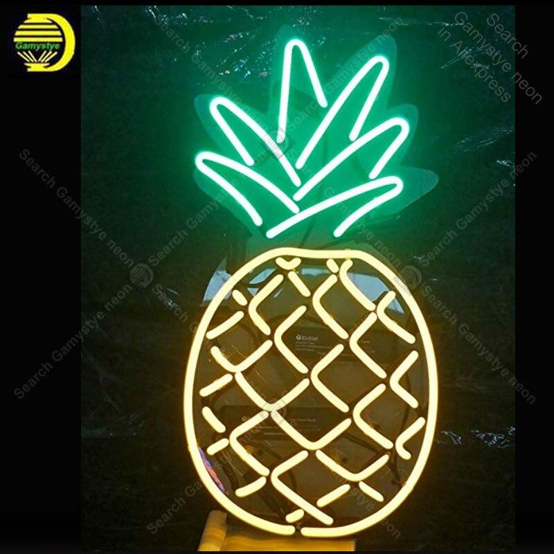 Étoiles néon Lampes Ananas Ouvert En Métal Cadre Néon Signe Magasin D'artisanat En Verre Tube magasin De Fruits Accesaries neon light Décor Chambre