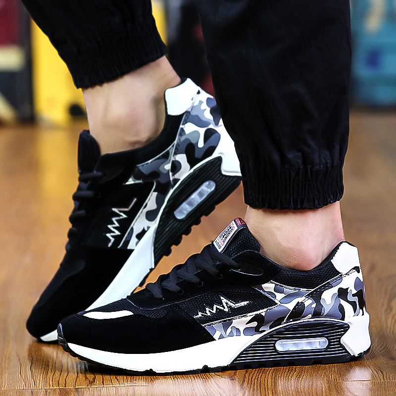 Men Fashion Sneakers Low Top Soft Comfortable Shoes Multicolor Camouflage Pattern Men's Casual Shoes Male Brand Footwear