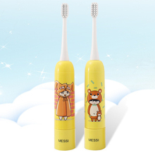 2PCS Children Electric Toothbrush Household Appliances Acoustic Wave Keystroke Type ABS
