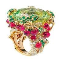 2017 серебряные ювелирные изделия Anillos Qi Xuan_Fashion Jewelry_Customized зеленый камень роскошные Rings_S925 чистого серебра Rings_Factory прямые продажи