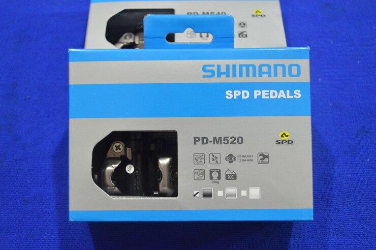 Цена за Shimano MTB Горный Велосипед Велосипед Части Chrome moly и Алюминиевые Самоблокирующимся PD M520 M520 Clipless Педали SPD Cleats, 3 Цвета