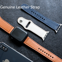 цены EIMO Strap for apple watch band Genuine leather loop 42mm 38mm iwatch band 44mm 40mm bracelet belt watchband apple watch 4 3 2 1