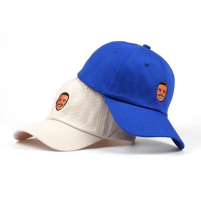 5de8356be4138 Pure Cotton Stephen Curry Dad Hat Embroidery Men Women Baseball Cap Curry  Snapback Hat Bone Garros High Quality Cap no structure
