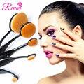 Base Em Pó Kits Eyeshadow Escova Oval Set/5 pcs Conjunto de Maquiagem Multifuncional compo Escovas Escova de Dente Forma Oval