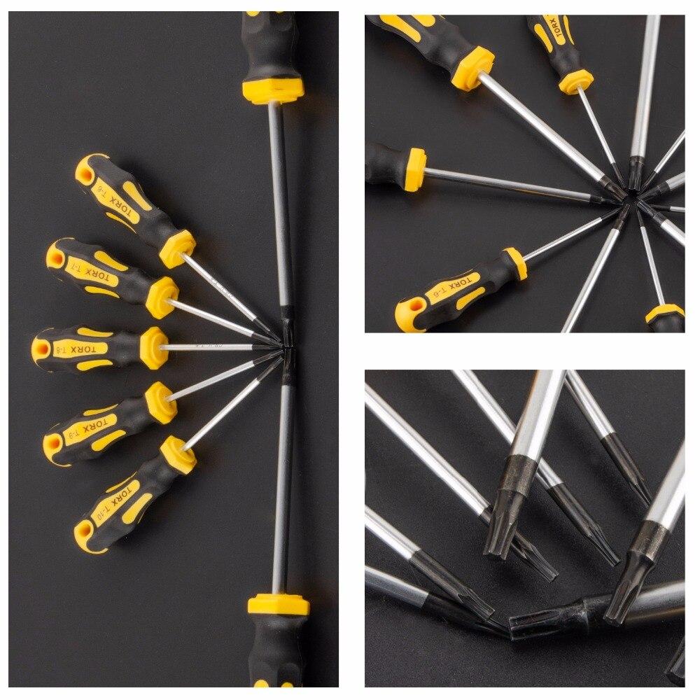 Купить с кэшбэком 11 in 1 CR-V Precision Screwdriver Set Magnetic T6-T40 Torx Screw Driver Screwdrivers Kit Repair Tools for Phone Computer Watch