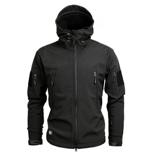Image 2 - Men autumn winter jacket coat soft shell shark skin clothes, waterproof military clothing camouflage jacket
