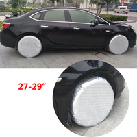 JEAZEA 4PCs 27'' 29'' Car Waterproof Thicken Spare Wheels Tire Tyre Cover Case UV Protect Sunshade Snow Protection Dustproof