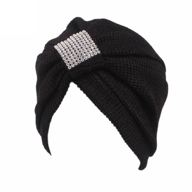 2017 Striped fashion Women s Muslim Hats Turban Turbante India Skullies  Beanies Beanie Indian hat Stretch Acrylic Head wraps YL 91db67da2d1