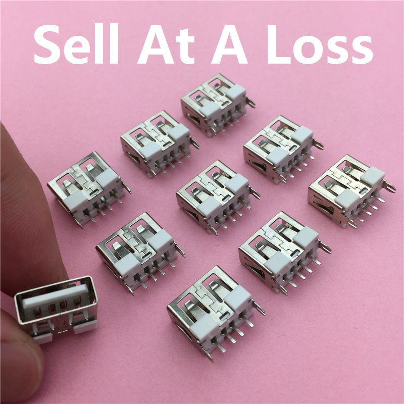10pcs/lot USB 2.0 4Pin A Type Female Socket Connector G50 Short Style for Data Transmission Charging Free Shipping