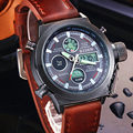 2016 hombres de los relojes de buceo marca de lujo LED relojes deportivos Reloj Militar reloj de cuarzo Genuino de los hombres de pulsera 3003 del relogio masculino