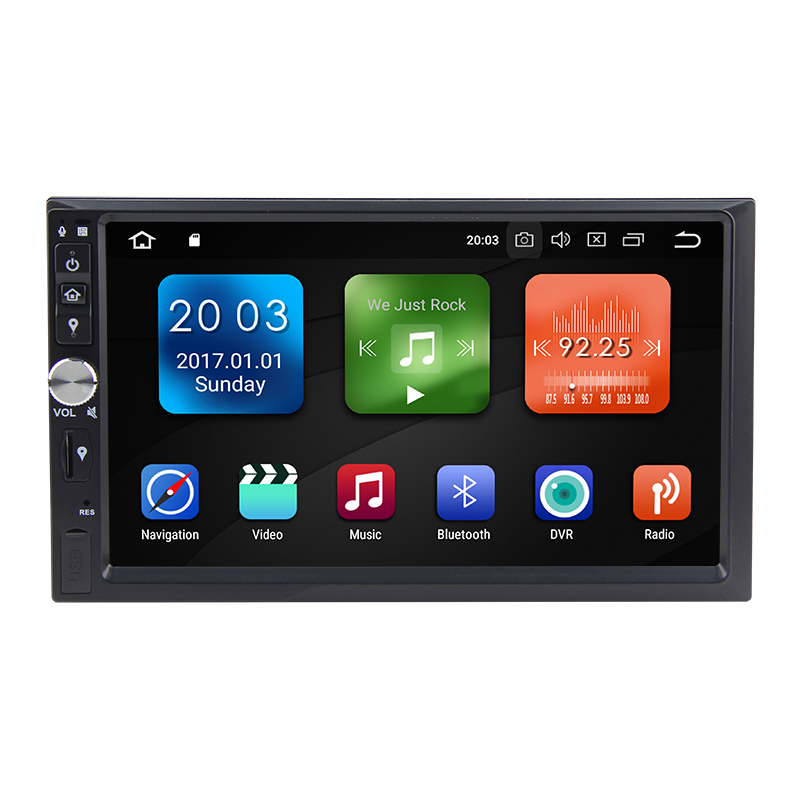 Ultra-mince Android 8.0 Octa Core 4g RAM 32g ROM 2 Din GPS Navigation 7 Voiture DVD Multimédia pour Universel avec Radio/BT/RDS