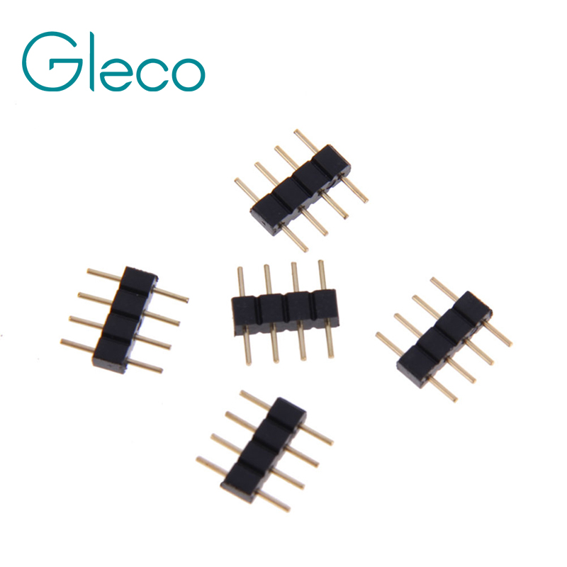 цена на 4pin RGB connector, 4 pin needle, male type double 4pin, small part for LED Strip Light RGB 3528 and 5050 strip 10pcs/lot