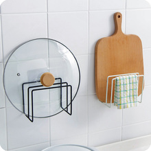 купить Kitchen storage block tools cutting board lid cover towel drainer holder rack kitchenware accessories organizer with suction дешево