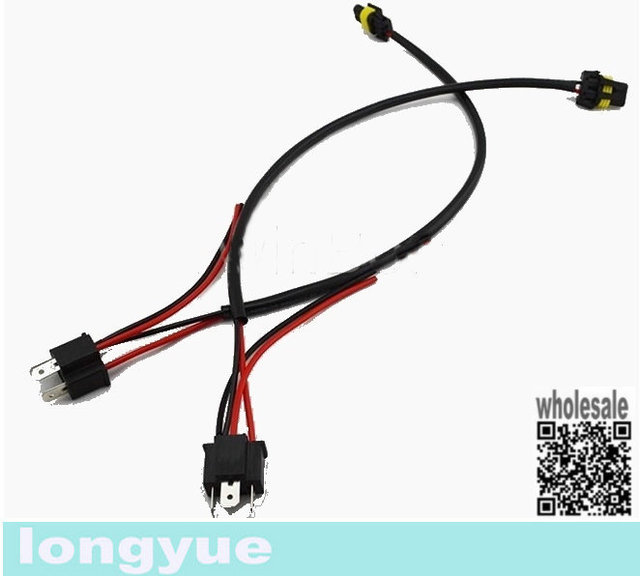 longyue 2pcs h4 9003 hb2 wiring harness for hid ballast to stock 120V Ballast Wiring Diagram at Hid Ballast To Stock Wiring Harness