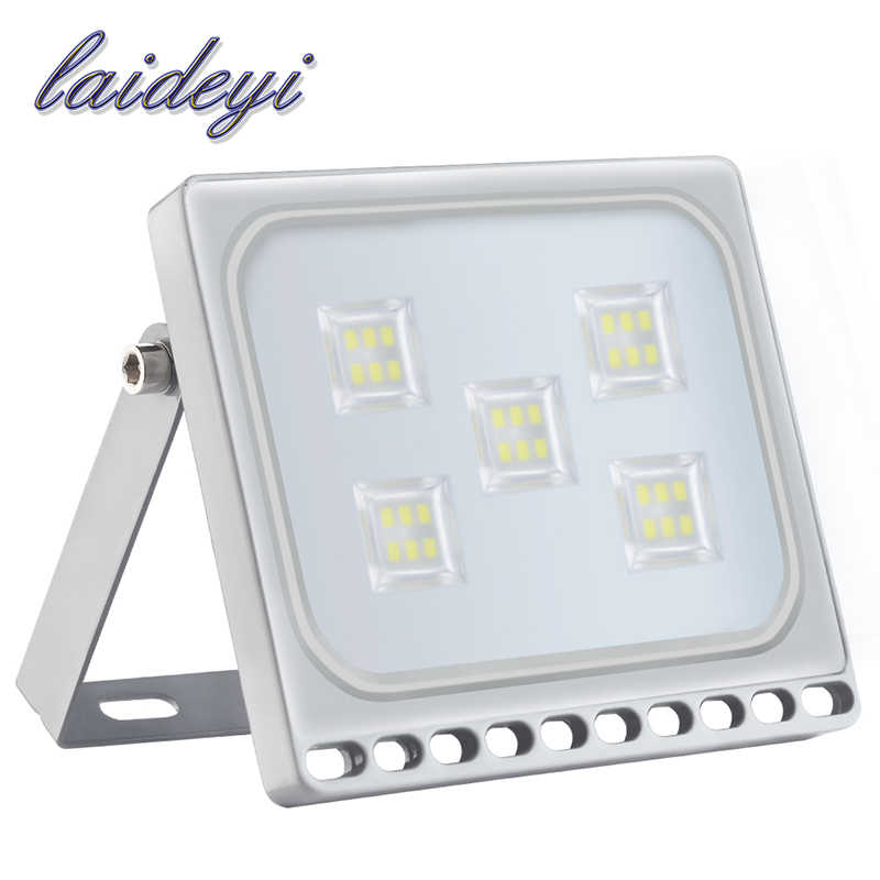 LAIDEYI 30W 220V Ultrathin LED Flood Light Outdoor Warm/Cold White Garden Wall Lamp Floodlight LED Spotlight IP67 waterproof