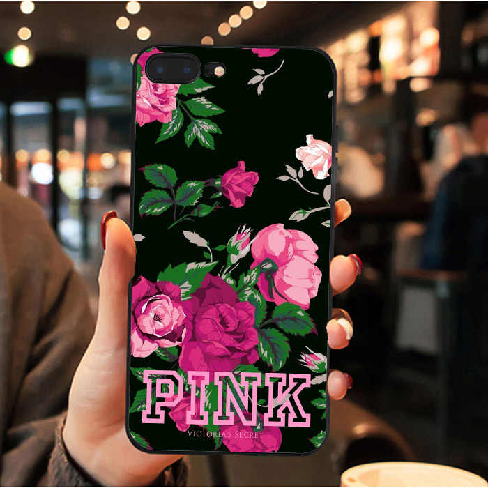 Brand NEW Victoria LOVE PINK Smart Cover black Soft silicone Phone Case For Apple iPhone 7 8 Plus 6 6S Plus X XS MAX 5 5S SE XR