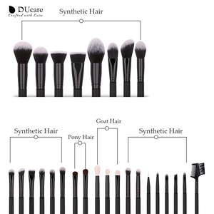 Image 5 - DUcare 27PCS Professional Makeup Brushes Set Powder Foundation Eyeshadow Make Up Brushes Soft Synthetic Hair Goat Hair Brushes