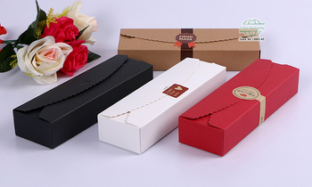 23*7*4cm 4 Colours Paper Box Macaron Boxes Chocolate Cookie Candy Cake Packaging Box Wedding Gift Box 100pcs/lot Free shipping