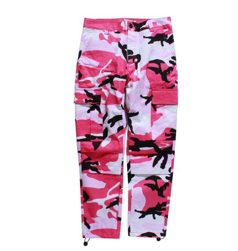 JOYINPARTY Orange pink camouflage pants-Cargo men womens shoes High quality hip-hop Street runners Pants pair camouflage pants