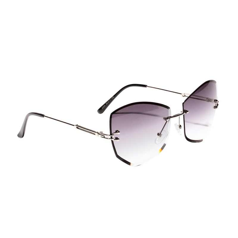 Cat Eye Diamond-shaped Frameless Sun Glasses Casual Sunglasses 2019 New Women Man Rimless Clear Colored Lens Glasses