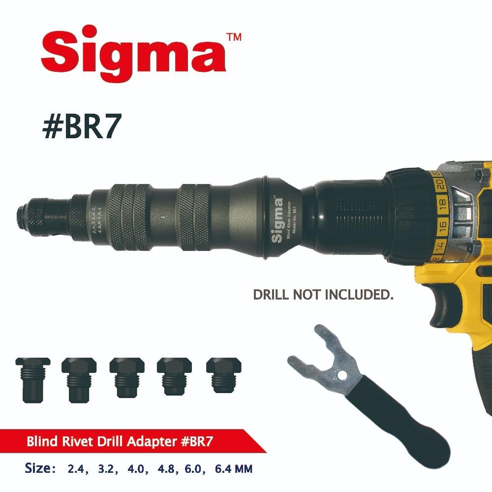 BR7 Electric Alternative Drill Adapter Or Rivet Cordless Adaptor Riveter Sigma Air DUTY Rivet Pop HEAVY Drill  Blind Gun Power