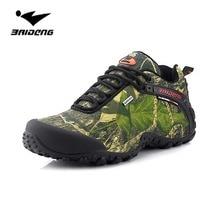 Wodoodporne mężczyźni obuwie turystyczne odkryte kamuflaż polowanie wspinaczka górska niskiej góry buty sneaker wędkarstwo camping trekking wody