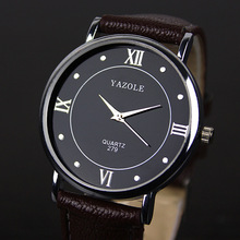 YAZOLE Brand Men Casual Watch 2016 New Arrival Men Leather Wristwatch Analog Men's Sports Quartz Watch Relogio Masculino Clock цена