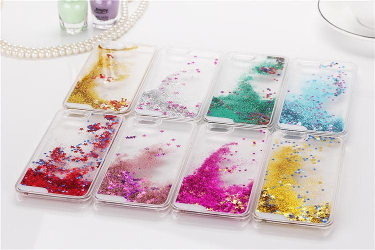 Liquid Glitter Bling Case for iPhone X Transparent Dynamic Cover for iPhone  4 4G 4S SE 5 5G 5S 5C 6 6S 7 8 Plus Water Case-in Fitted Cases from  Cellphones ... 4804f9226053