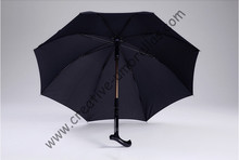 Hand open unbreakable self-defense detachable crutch climbing umbrella brass aluminnium fiberglass old man's sunshade parasols unbreakable