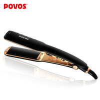 POVOS Hair Straightener Plate Irons Straightening Professional Styling Tools Wet And Dry Double Usage PR2028
