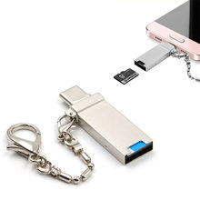 3in1 USB 3.1 Tipo C USB-C TF Micro SD Card Reader OTG Para Samsung Galaxy S9 Dropshipping Preço de Fábrica(China)