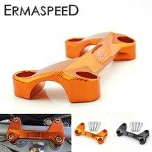 Оранжевый мотоцикл Руль управления для мотоциклов стояки Верхняя Крышка зажим бар крепление с Шурупы для KTM DUKE 125 200 390 Мотокросс Байк