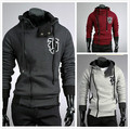 Новый 2016 Весна и Осень Моды Случайные Тонкий Кардиган Assassin Creed Толстовки Толстовка Верхняя Одежда Куртки Men, Размер M-4XL, B70