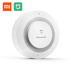 Original Xiaomi Mijia Honeywell Fire Alarm Detector Audible And Visual Alarm Work With Gateway Smoke Detector Smart Home Remote