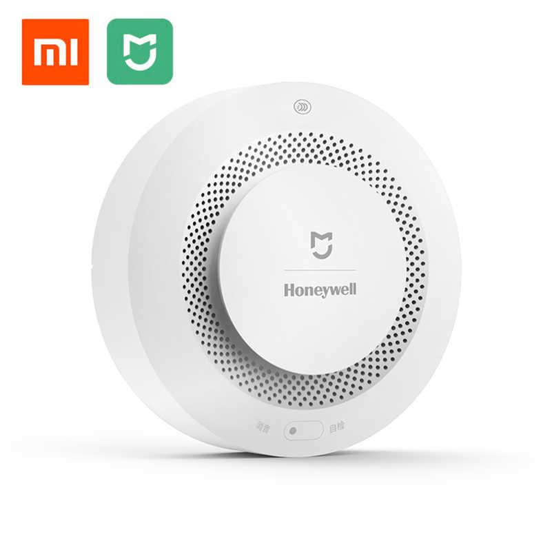 Оригинальный Xiaomi Mijia Honeywell пожарная сигнализация детектор звуковой и визуальной сигнализации работа с шлюзом детектор дыма умный дом пульт дистанционного управления