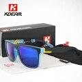 Cuadrado Superior plana gafas de Sol Polarizadas de Calidad Inigualable Marco Sunglass Hombres Beach UV400 Gafas lunettes de soleil KDEAM CE
