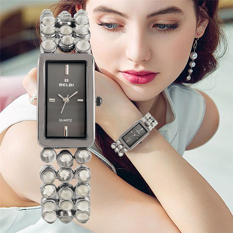 Elegant Women Watch Retangle Top Brand Bracelet Clasp Ladies Watches Luxury 2019 orologio donna reloj para dama in Women 39 s Watches from Watches