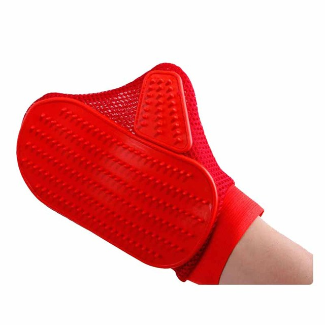 Pet Grooming Products Rubber Dog Cleaning Massage Glove Remove Loose Hair Comb Brush for Dogs Cats Large Dog Supplies 10*6.5″