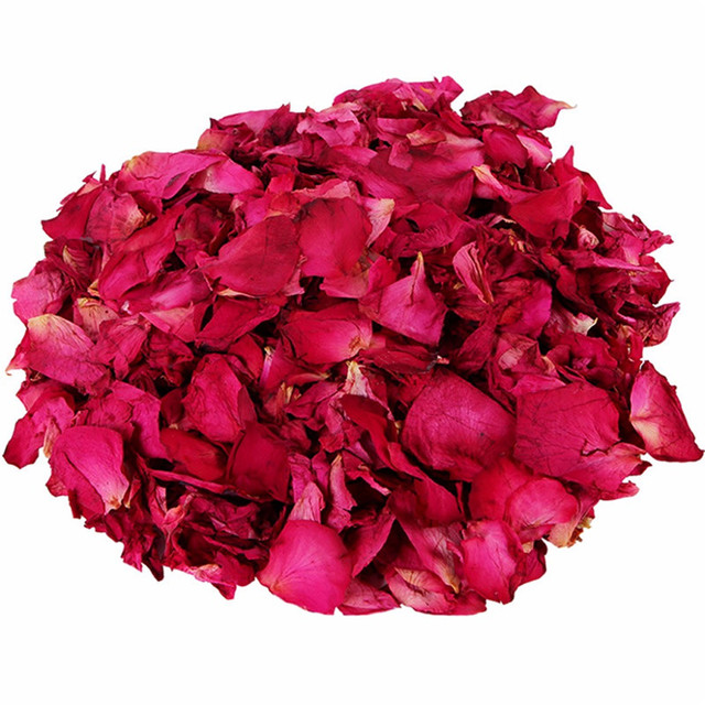 1 Pack Dried Rose Petals Natural Flower Bath Spa Whitening Shower Dry Rose Flower Petal Bathing Relieve Fragrant Body Massager 4