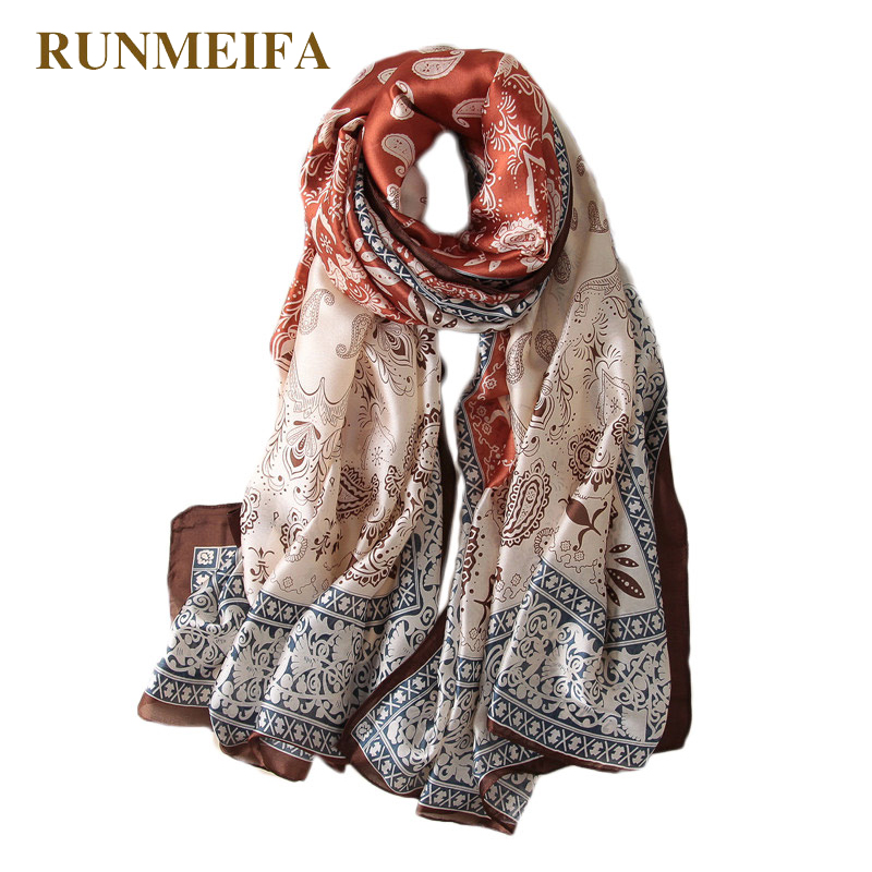 2018 Design New Summer Air Conditioning Shawl Scarf Print Silk For Lady's Tourist Taking Photos Dress Accessories Scarves Gifts