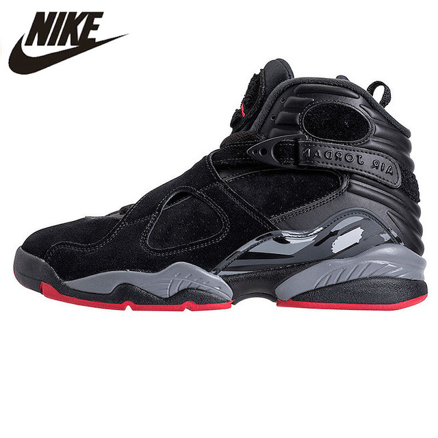 NIKE Air Jordan 8 Cement Black Men s Basketball Shoes Sneakers ... f31b05814